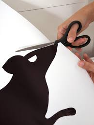 halloween silhouette templates giant rat outdoor halloween decoration hgtv