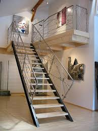 Stairway Banisters Stairway Railing Made Of Stainless Steel Metal Art Gahr