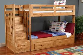 Bunk Beds With Trundle Safety Bunk Beds With Stairs And Trundle Modern Bunk Beds Design