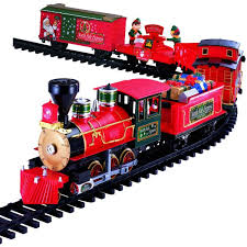 Outdoor Christmas Decorations Train Set by Deluxe Remote Control 36pc North Pole Express Train Set For