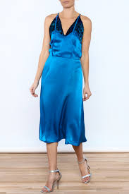 dawn sunflower midnight blue silk dress from california u2014 shoptiques