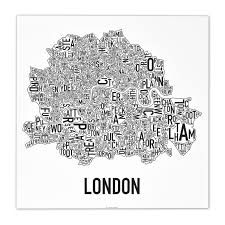 Chicago Neighborhood Map Poster by Ork Posters London Neighborhood Map Fab