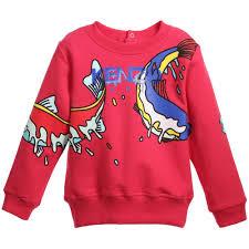 fish sweater purple doughnuts unisex kenzo fish print sweater