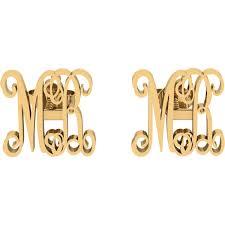 Monogrammed Earrings Personalized Monogram Earrings Monogrammed Earrings Orosilber