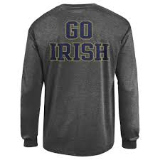 Notre Dame Infant Clothes Notre Dame Fighting Irish Long Sleeve Tshirt Charcoal Apc02928076