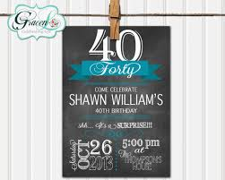template 40th birthday party invitations for him 40th birthday