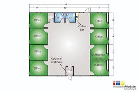 floor plan of commercial building new and used modular buildings available for immediate delivery