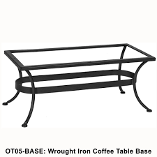 Lee Patio Furniture by Ow Lee Standard Wrought Iron Rectangular Coffee Table Base Ot05 Base