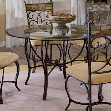 Glass Top Round Dining Tables by Mabel Glass Top And Metal Dining Table Box 1 Of 2 Walmart Com
