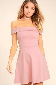 pink dresses blush pink dress the shoulder dress skater dress 52 00