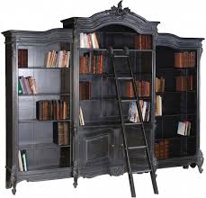 Library Bookcase With Ladder by Moulin Noir Library Bookcase And Ladder Ch2641 B French