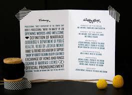 cool wedding programs aimee matthew s modern chevron wedding stationery alisa