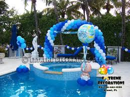 baby shower centerpieces for boy party decorations miami baby shower balloon decorations