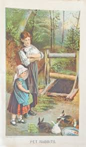 godey s book pet rabbits from 1877 godey s s book boy and girl