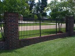 wrought iron fencing with brick border wrought iron fencing