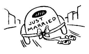 married clipart black white