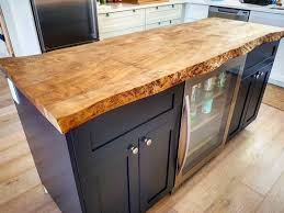 live edge ambrosia maple kitchen island by barnboardstore com