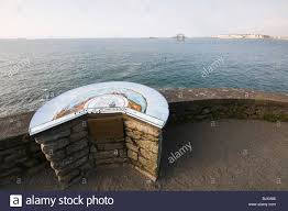 Brittany France Map Map At Pointe Du Moulinet Dinard Brittany France Stock Photo