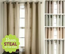 Organic Cotton Curtains Green Of The Week Set Of Organic Cotton Grommet Top Curtains