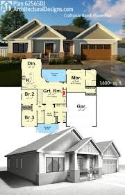 craftsman ranch house plans plan 62565dj craftsman ranch house plan house plans craftsman