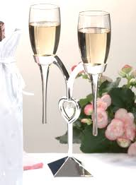 wedding glasses silver toasting glasses wedding glasses unique heart wedding