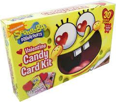 spongebob valentines day cards frankford spongebob candy card kit