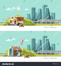 family home traditional modern house cityscape stock vector