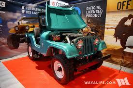 cj jeep 2017 sema umc universal motor company teal metallic jeep cj 5