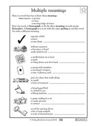 2nd grade 3rd grade reading worksheets homographs greatschools