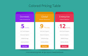 pricing table w3layouts com