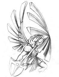 saints warrior tattoo design by neogzus on deviantart