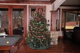 rustic hunter christmas tree traditional basement atlanta