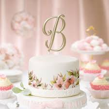 gold monogram cake toppers 5 inch gold single initial monogram wedding cake topper