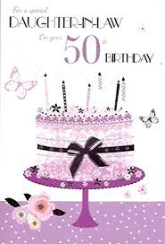 for a special daughter in law on your 50th birthday card ebay