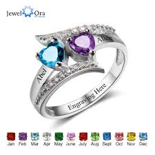custom birthstone necklaces promise ring personalized custom birthstone ring with free engraving