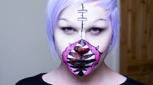 halloween gaping zombie mouth make up tutorial youtube