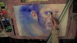 watercolor portrait retrato acuarela dr house mov youtube