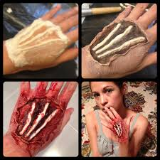 diy exposed bloody tendons special fx wound on hand materials