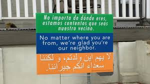 Different Countries And Their Flags A Message Of Tolerance And Welcome Spreading From Yard To Yard