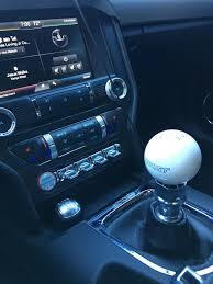 mustang 6 speed hurst mustang 6 speed shift knob white 1630225 15 17 gt