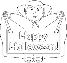 happy halloween dracula halloween coloring pages kids print