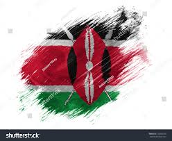 Images Kenya Flag Kenya Flag Painted Brush On White Stock Illustration 129063305