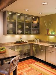 glass door kitchen wall cabinet decor idea stunning creative with