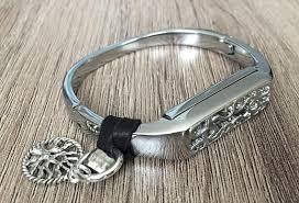 life tracker bracelet images Silver metal band for fitbit flex 2 activity tracker bangle jpg