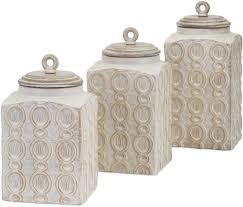 details about kitchen ceramic canisters dreanna wood classic