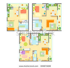 Floor Plans With Furniture Architecture Plans Furniture Icons Download Free Vector Art