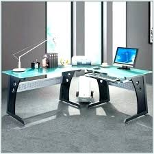 Gaming L Desk Gaming L Desk Shaped Glass Office Best Setup 2014 Interque Co