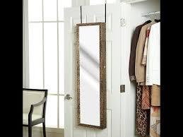jewelry armoire full length mirror overthedoor jewelry armoire with fulllength mirror youtube