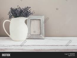 shabby chic interior decor for farmhouse lavender in pitcher and