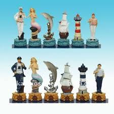 buy chess set nautical chess set with board buy chess set fairy chess set theme